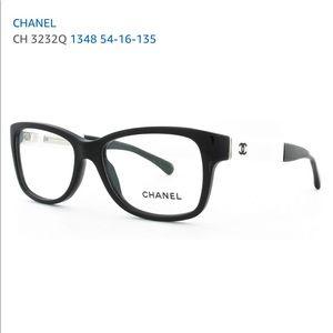Chanel black and white eyeglasses